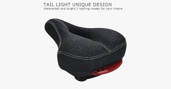 Comfortable Bike Seat With C99 Memory Foam Padded Leather