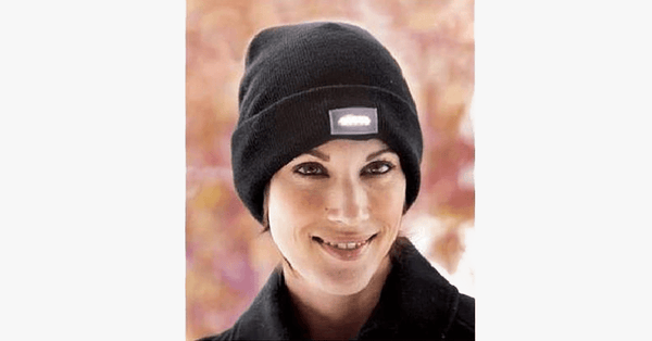 Unisex Knitted Beanie With Built-In 5 LED Flashlight - FREE SHIP DEALS