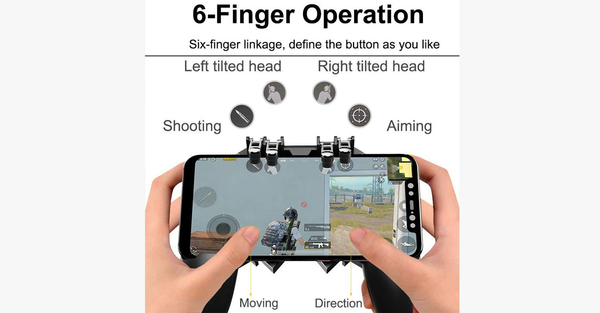 Six Finger Gamepad Controller