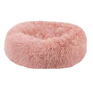AHUAPET Round Washable Dog Bed Soft Cat House Pet Beds For Dogs House Cat Haustiere Chat Panier Long Plush Dog Chihuahua Kennel