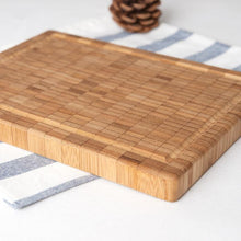 Load image into Gallery viewer, Natural Bamboo Chopping Block Cutting Board