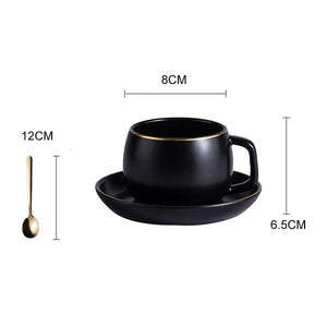 Black Pigmented Porcelain Tea Cup