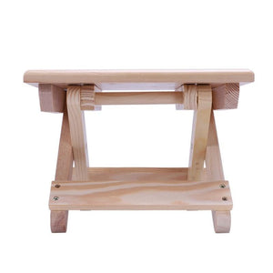 Portable Beach Chair Simple Wooden  Stool