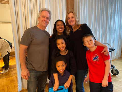 Every Body Eat™ cofounders Nichole Wilson, Trish Thomas, Dick Thomas, and their kids