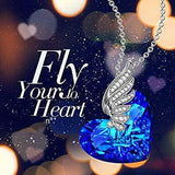 Blue Topaz Wings of my Angel Necklace