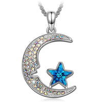 Aurora Borilles Moon and Star Necklace