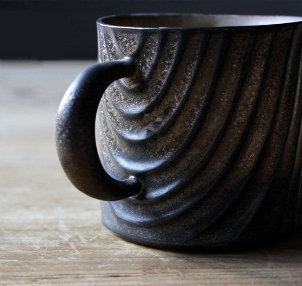 Japanese Wood Grain Coffee Mug