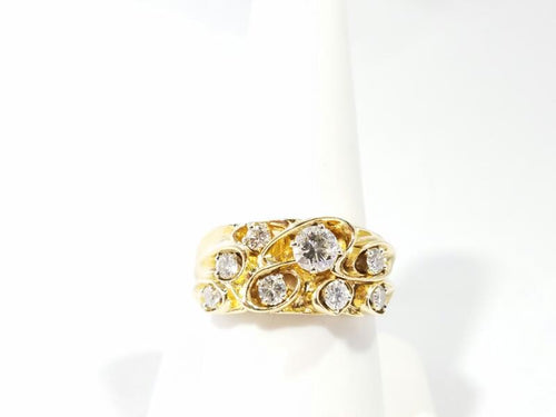 Gent's Diamond Fashion Ring 8 Diamonds 1.15 Carat T.W. 14K Yellow Gold 10.9g