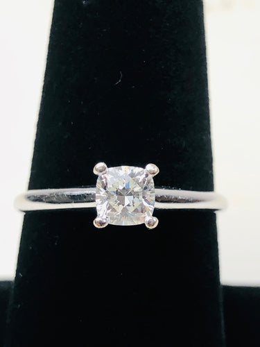 Lady's Diamond Solitaire Ring .54 CT. 14K White Gold 2.3g