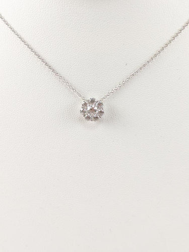 HEARTS ON FIRE PENDANT 8 Diamonds 1.00 Carat T.W. 18K White Gold 4g