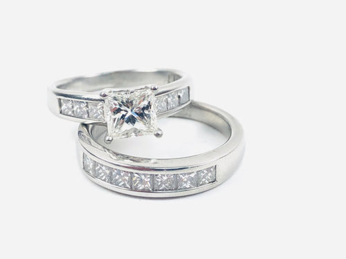 Ladies Platinum Wedding Set