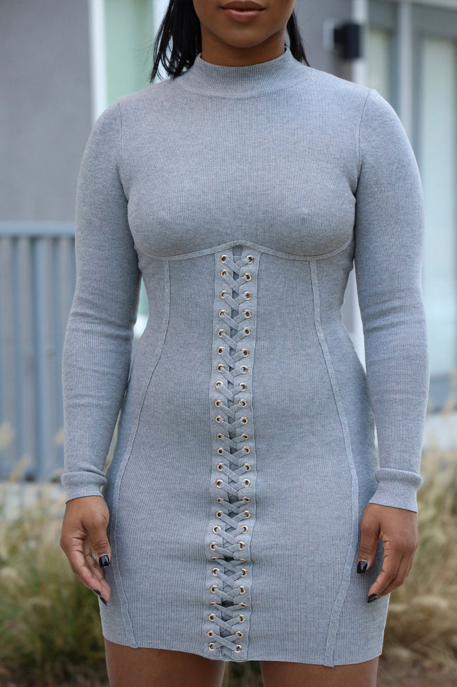 Corset Laced Gray