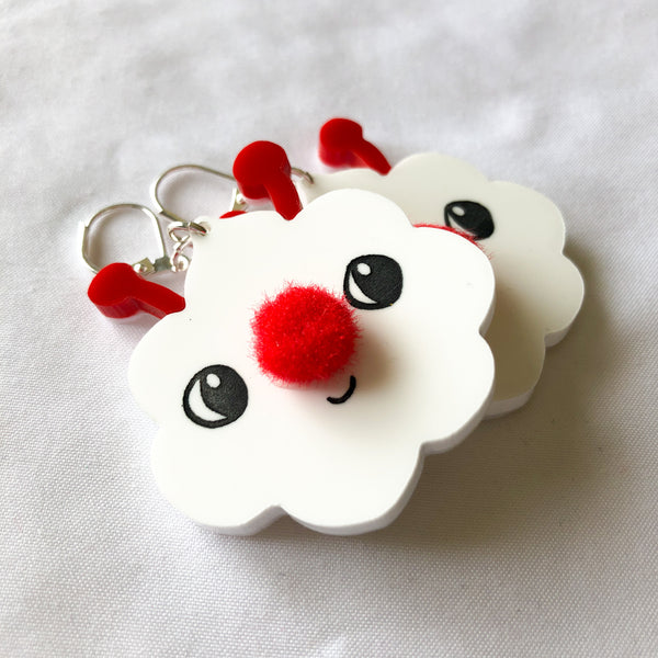 "Little Clouds - 2.5"" earrings pair clearance"