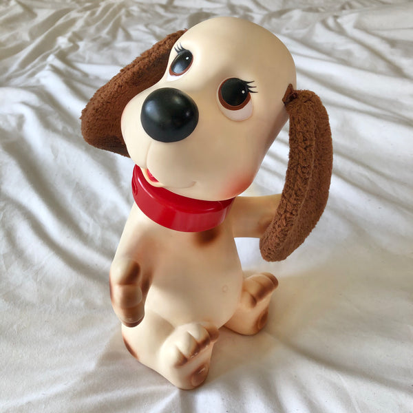 Rub-A-Dub Doggie White With Brown Spots Bath Time Toy 1982