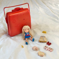 Vintage Heidi Doll With Case & Accessories Remco Toy