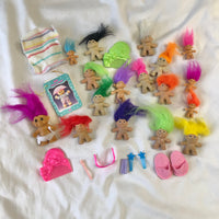 Lot of Trolls and Troll Accessories