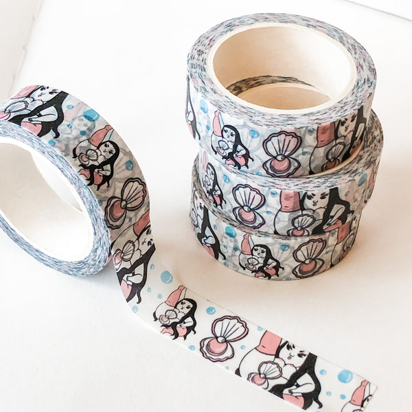 Mother of Pearl - Cute Washi Tape Stationery (15mm x 10 metres)