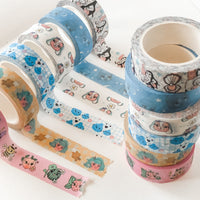 The Washi Collection - 6 Cute Washi Tapes Stationery (15mm x 10 metres)