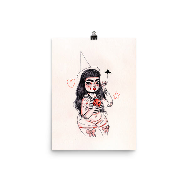 Retro Series - Apple Witch - Giclée Art Print