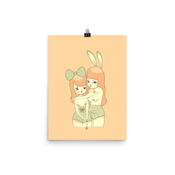 Retro Series - Bunnies - Giclée Art Print