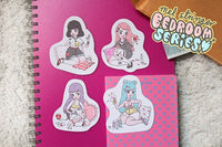 Bedroom Series - 4 Pack of stickers