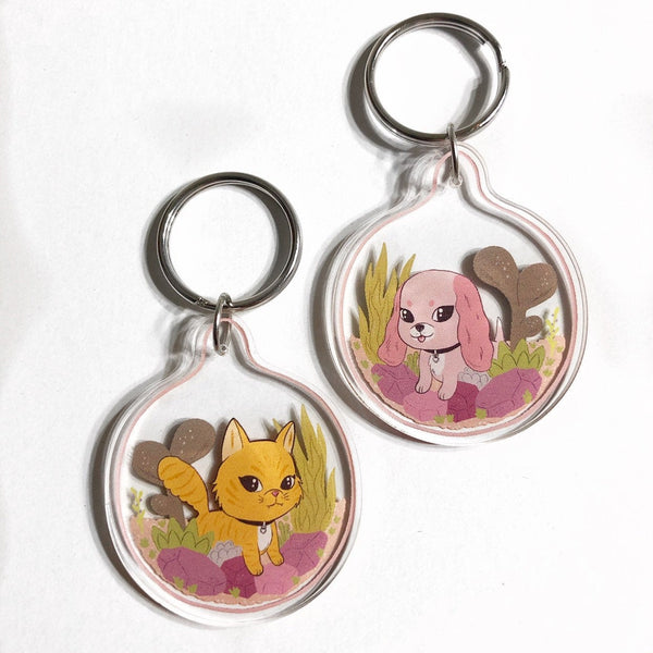 Pup or Kitty Keychain