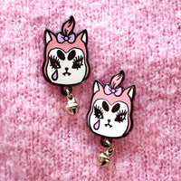 Cat Brat Gang pin - 1 inch