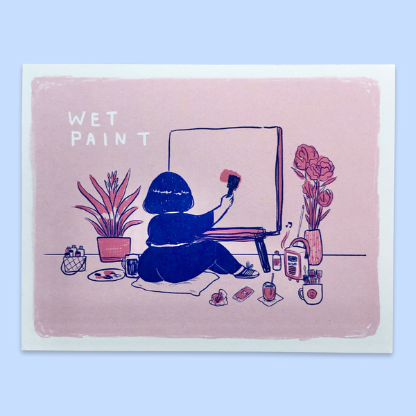 Wet Paint - mini print