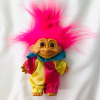 Vintage clown Troll toy by Russ