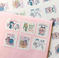 Stamp Stickers - pack of 12