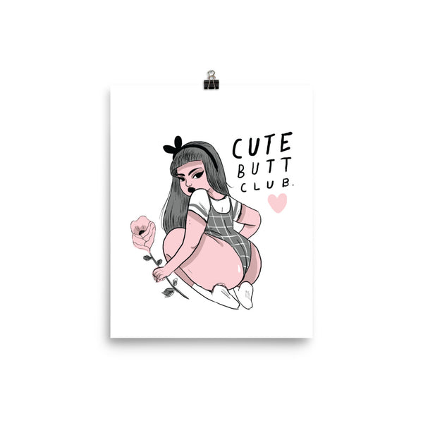Cute Butt Club, Rosie  - Giclée Art Print