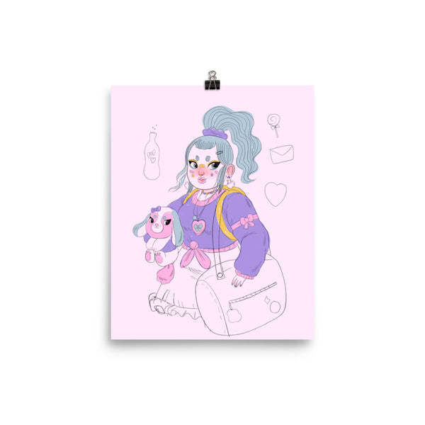 Buppy Girl - Giclée Art Print