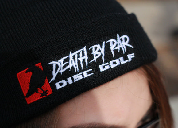 Death By Par Disc Golf Beanie Knit