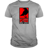 Death By Par Red Block Disc Golf T-Shirt
