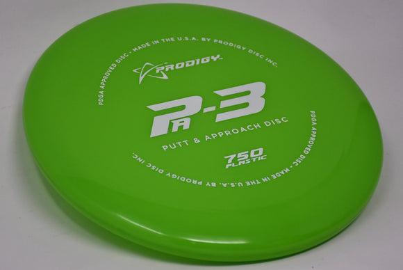 Buy Green Prodigy 750 PA3 Putt and Approach Disc Golf Disc (Frisbee Golf Disc) at Skybreed Discs Online Store