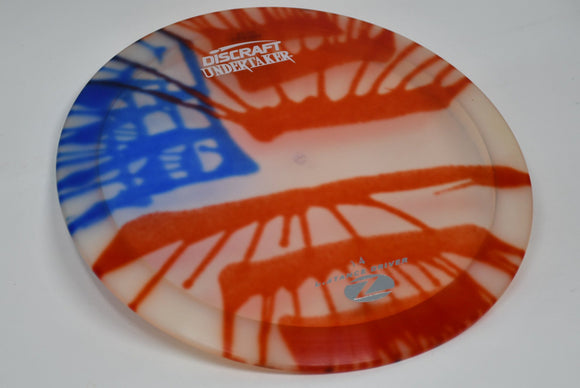 Buy American Flag Dye Discraft Z Fly Dye Undertaker Distance Driver Disc Golf Disc (Frisbee Golf Disc) at Skybreed Discs Online Store