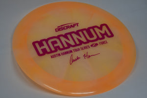 Buy Orange Discraft Z Force Austin Hannum Tour Series 2020 Distance Driver Disc Golf Disc (Frisbee Golf Disc) at Skybreed Discs Online Store