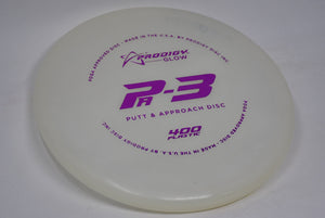 Buy White Prodigy 400 Glow PA3 Putt and Approach Disc Golf Disc (Frisbee Golf Disc) at Skybreed Discs Online Store