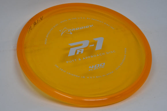 Buy Orange Prodigy 400 PA1 Putt and Approach Disc Golf Disc (Frisbee Golf Disc) at Skybreed Discs Online Store