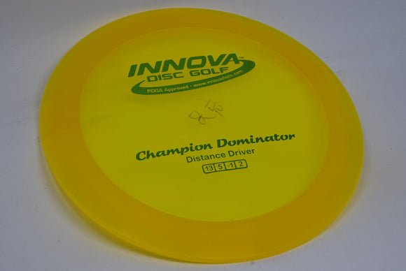 Buy Yellow Innova Champion Dominator Distance Driver Disc Golf Disc (Frisbee Golf Disc) at Skybreed Discs Online Store