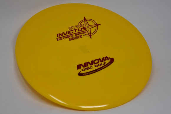 Buy Yellow Innova Star Invictus Distance Driver Disc Golf Disc (Frisbee Golf Disc) at Skybreed Discs Online Store