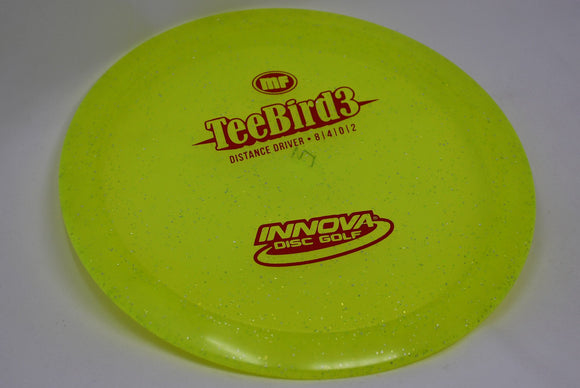 Buy Yellow Innova Metal Flake TeeBird3 Fairway Driver Disc Golf Disc (Frisbee Golf Disc) at Skybreed Discs Online Store