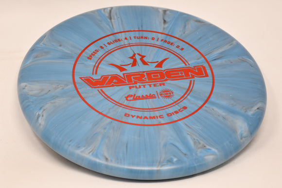 Buy Blue Gray Dynamic Classic Burst Warden Putt and Approach Disc Golf Disc (Frisbee Golf Disc) at Skybreed Discs Online Store