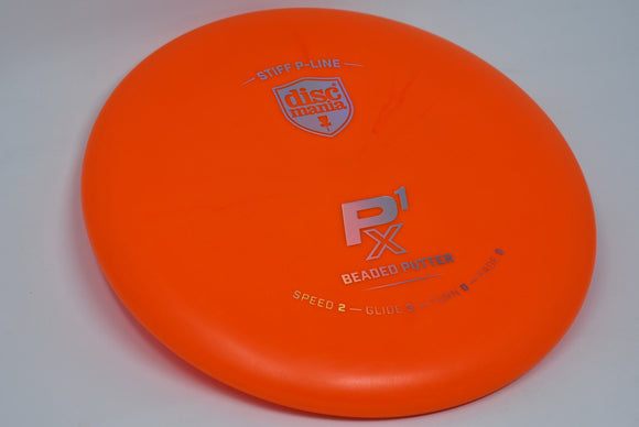 Buy Orange Discmania Stiff P-Line P1X Putt and Approach Disc Golf Disc (Frisbee Golf Disc) at Skybreed Discs Online Store
