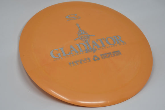 Buy Yellow Orange Latitude 64 Recycled Gladiator Distance Driver Disc Golf Disc (Frisbee Golf Disc) at Skybreed Discs Online Store