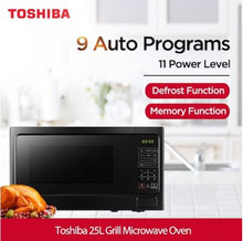 Load image into Gallery viewer, Toshiba MM-EG25P(BK) 25L Grill Microwave Oven