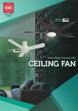 Load image into Gallery viewer, KDK U48FP - Ceiling Fan with DC motor, 120cm with Remote Control