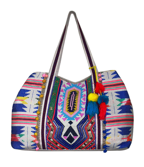 BEADED SUMMER SHOULDER BAG - NOMADIC