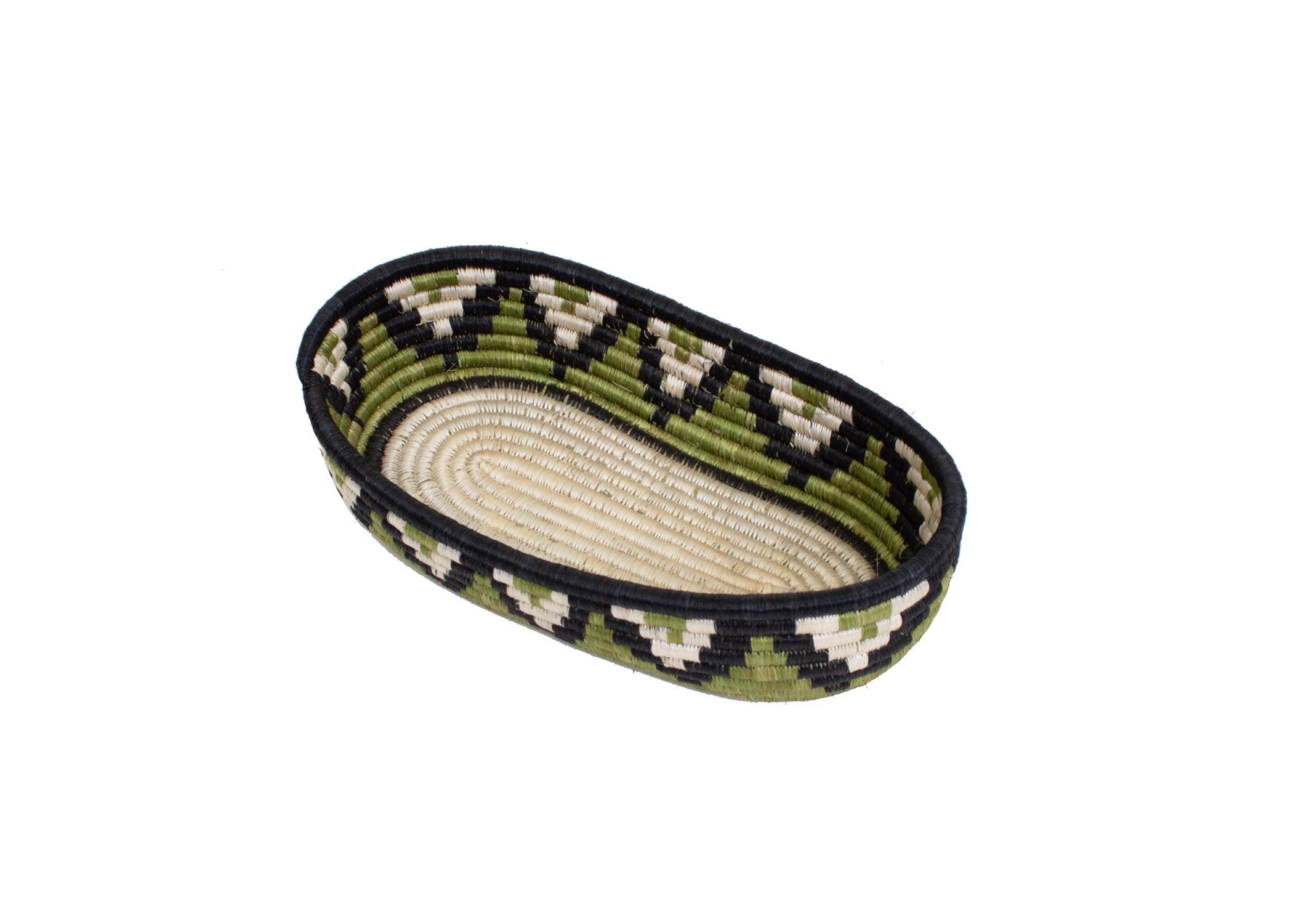 Pastel Green Oval Basket