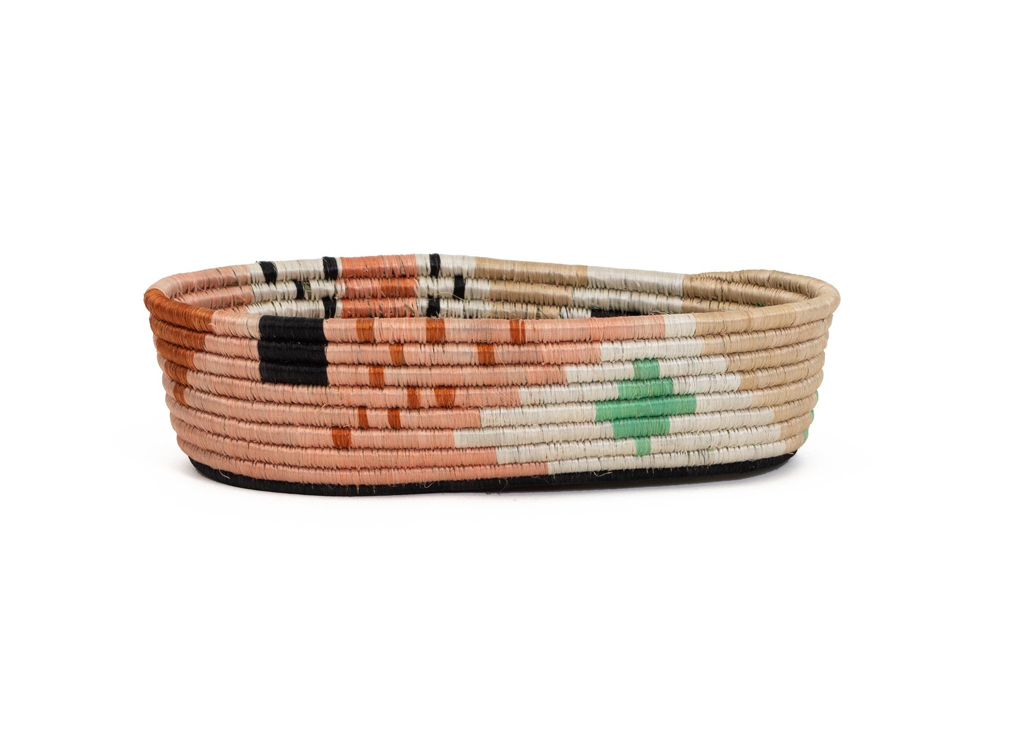 Dusty Peach Biko Oval Basket